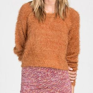 Billabong fuzzy cropped sweater